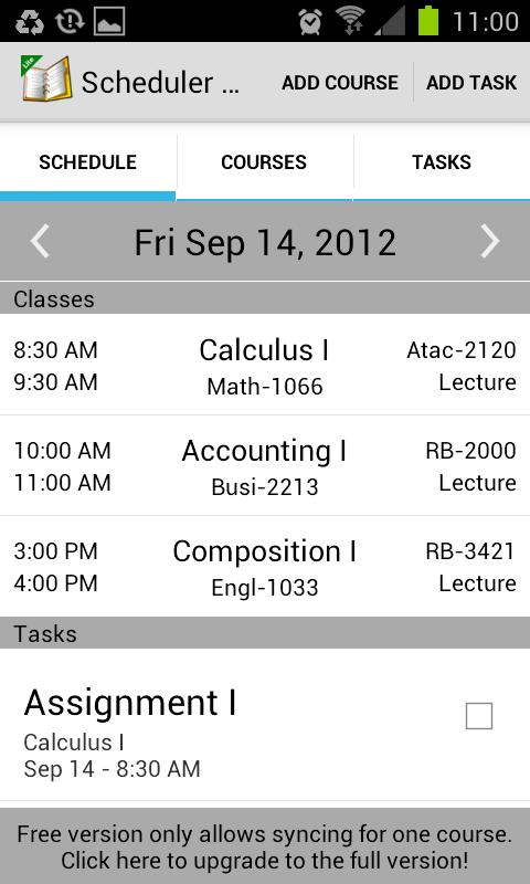 School Scheduler- screenshot
