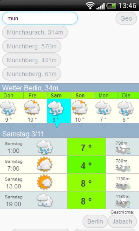 Das wetter meteo .com Deutsch - screenshot