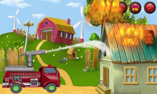 消防車 キッズ車:ラッシュアワー:ブロックを解除