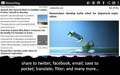NewsHog: Google News & Weather - screenshot thumbnail