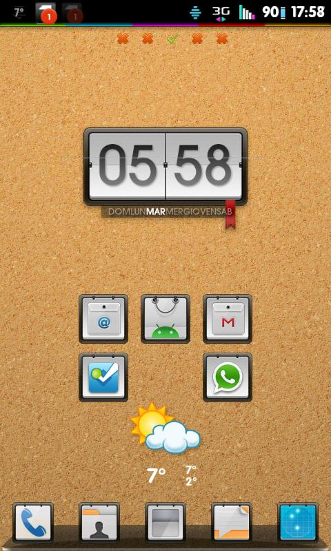 Go Launcher Theme Corkboard - screenshot