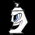 Graffiti Spraycan Sticker icon