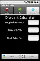 Screenshot of YellOut Voice Calculator Free!