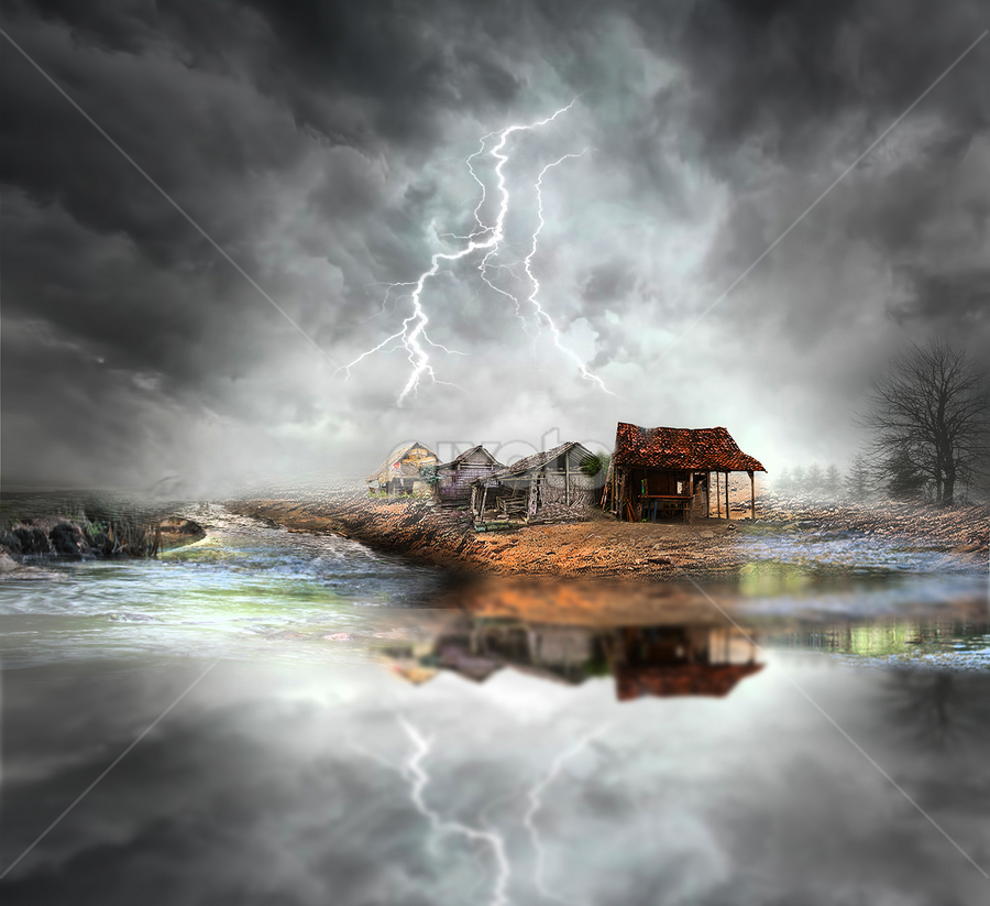 storm by Totok Anwarsito - Digital Art Places