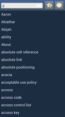English Wolof Dictionary - screenshot