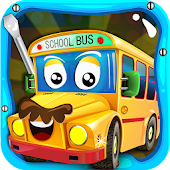 School Bus Builder- Car Garage