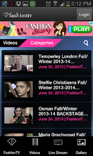 Fashion TV for Android - screenshot thumbnail