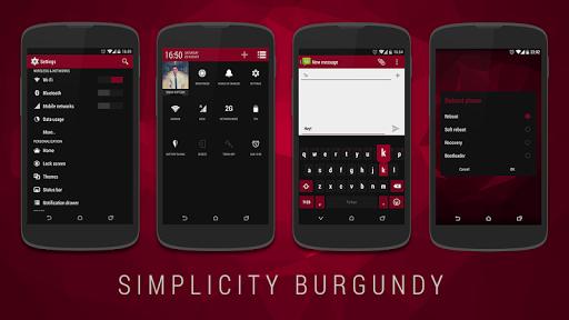 Simplicity Burgundy CM11 Theme v1.4.5