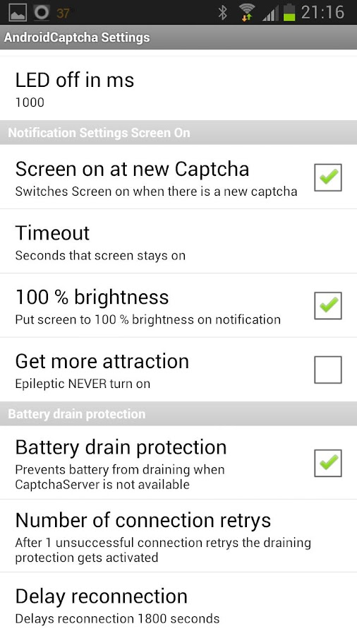 AndroidCaptcha - screenshot
