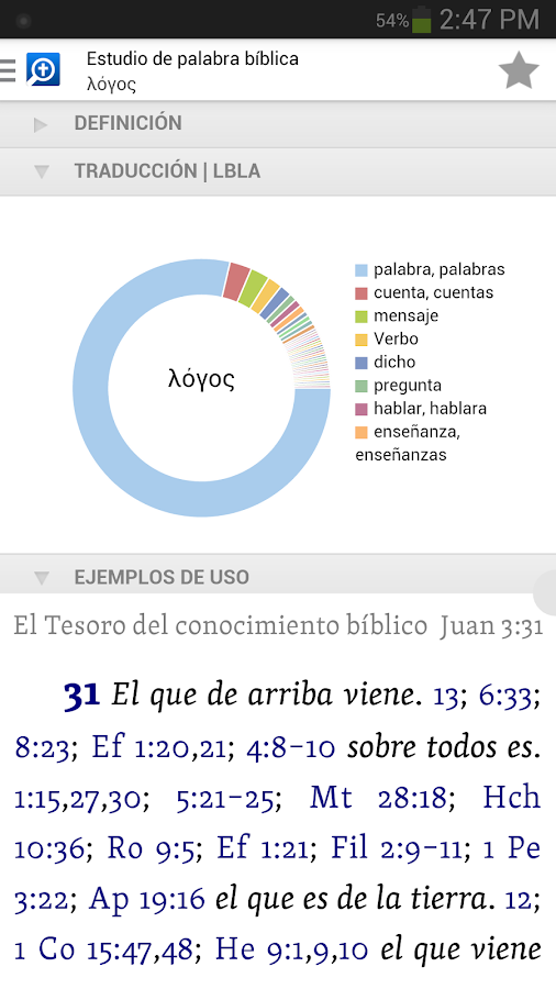 Biblia Logos- screenshot