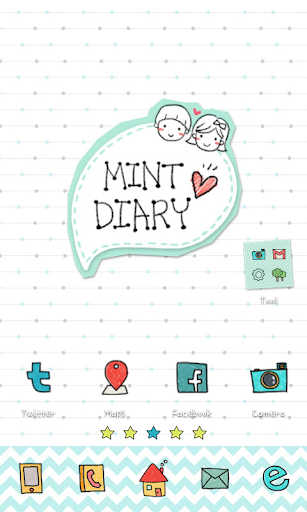 Mint Diary go launcher theme