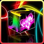 Neon light cube live wallpaper