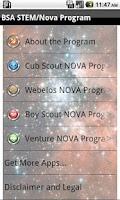 Screenshot of BSA STEM/Nova Program