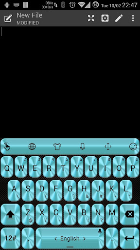 Theme TouchPal Metallic Blue