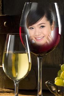 wine glass photo frame hd screenshot thumbnail - Wine Picture Frames