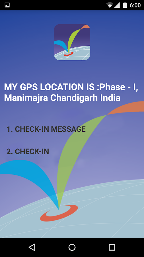 Check In GPS- screenshot