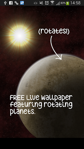 Rotating Planet Live Wallpaper