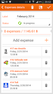 N2F Travel expenses & report - screenshot thumbnail