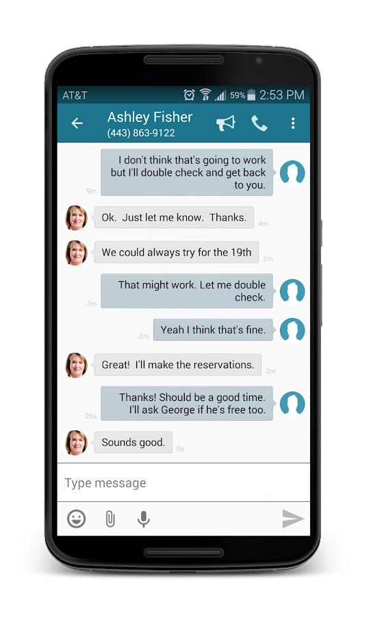 SimplyText: Free Texting - SMS- screenshot