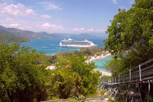 Freedom-of-the-Seas-in-Labadee-Haiti - During your cruise to the Western Caribbean on Freedom of the Seas, you'll have a day for water activities or fun on one of the attractions at Labadee, Royal Caribbean's 260-acre private beach resort on Haiti's north coast.