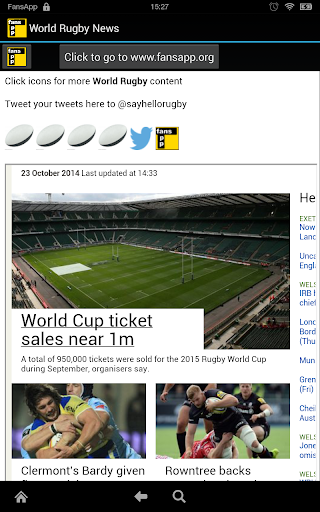 World Rugby News FansApp