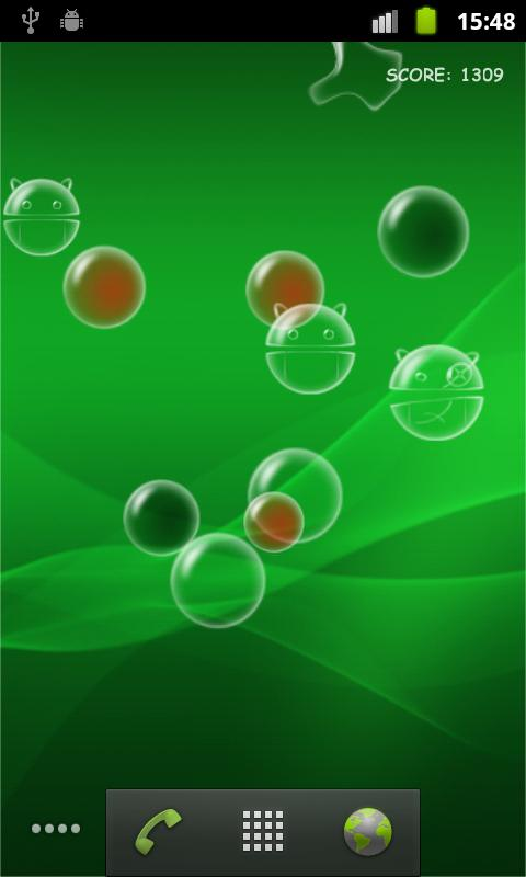 Bubble Droid Live Wallpaper - screenshot