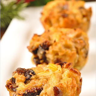 Fig and Chestnut Stuffing Muffins.