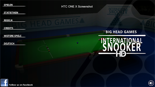 INTERNATIONAL SNOOKER HD screenshot