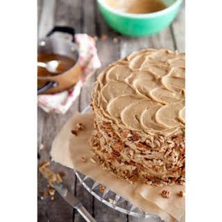 Chocolate Pecan Layer Cake.