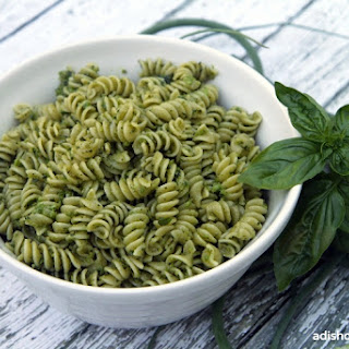 Garlic Scape, Basil and Almond Pesto