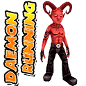 Daemon running 3D free icon