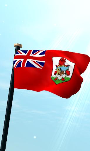 Bermuda Flag 3D Free Wallpaper