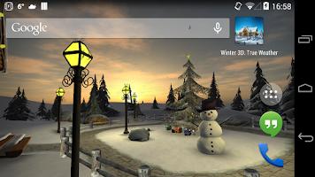 Screenshot of Winter 3D, True Weather