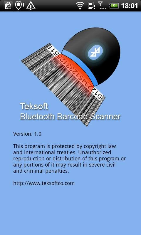 Bluetooth Barcode Scanner Demo- screenshot