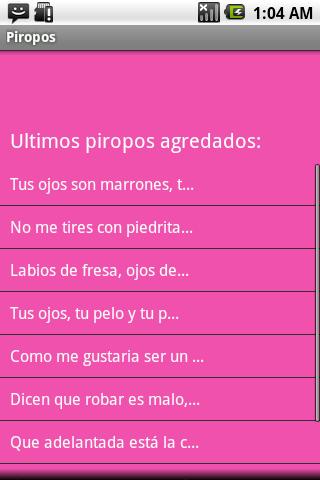 Piropos para ligar- screenshot