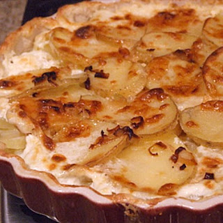 Potato Leek Gratin with Vermont Cheddar