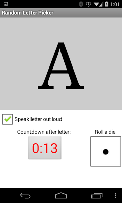 Random Letter Picker - screenshot
