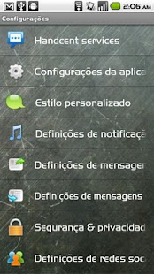 Handcent SMS Portuguese Langua- screenshot thumbnail