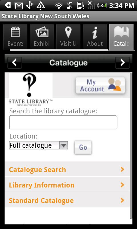State Library of NSW - screenshot