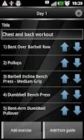 Screenshot of Gym Book: training notebook*