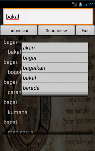 Sundanese Indonesia Dictionary