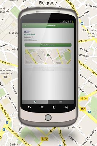 Bankomati RS   Android aplikacija koja daje pregled svih bankomata Srbije
