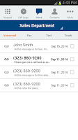 Screenshot of Onebox Business Phone Solution