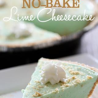 NO BAKE Lime Cheesecake.