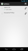 Screenshot of bytNotes - Call Reminder Notes