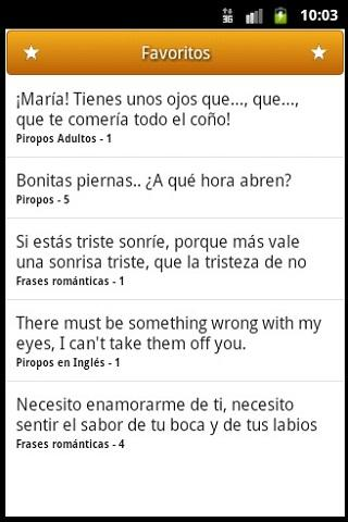 Piropos- screenshot