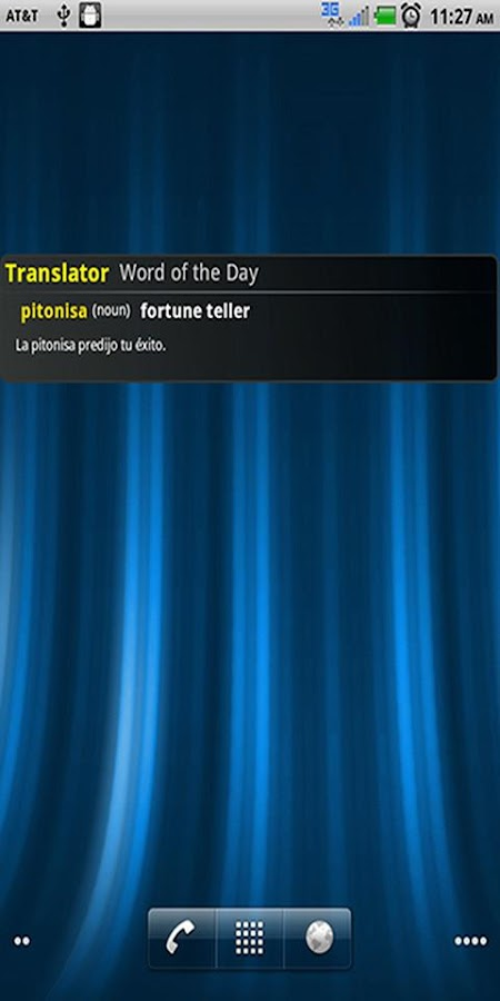 Talking Spanish Translator App- screenshot