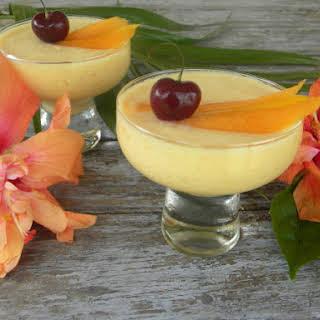 Eggless Mango Mousse.