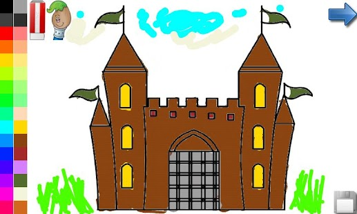 Coloring Book: House & Castle!- screenshot thumbnail