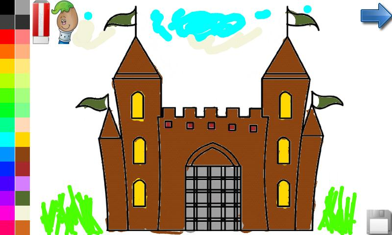 Coloring Book: House & Castle!- screenshot